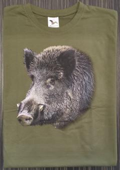 T-Shirt Schwarzwild bunt