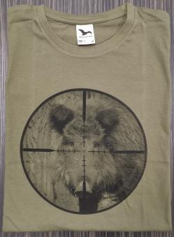 T-Shirt Schwarzwild Visier sw