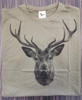 T-Shirt Rothirsch sw (Haupt)