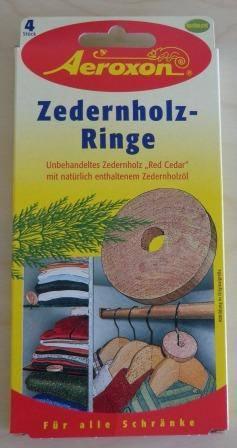 Zedernholz-Ringe 4 x 4 Stück