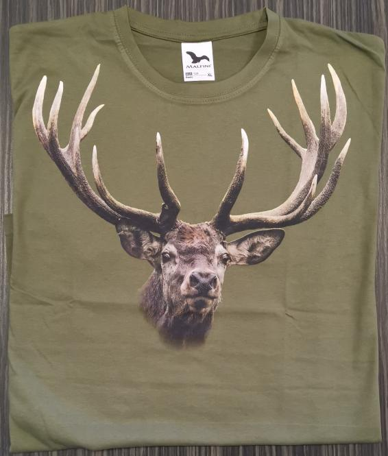 T-Shirt Rothirsch bunt
