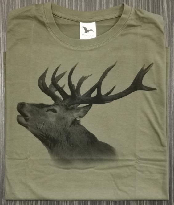 T-Shirt Rothirsch röhrend sw
