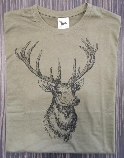 T-Shirt Rothirsch sw (Stich)