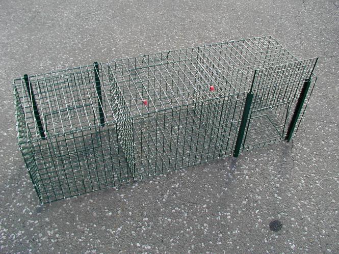 Elsternfalle mit 2 Fangkammern 30 x 30 x 90 cm