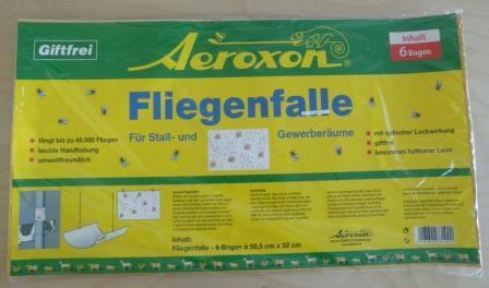 Fliegenfalle 6 Stück für Stall- und Gewerberäume
