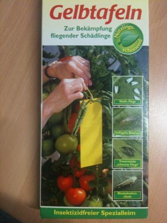 Fliege-Schädling Gelb-Tafel