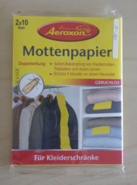 Mottenpapier 4 x 20 Blatt